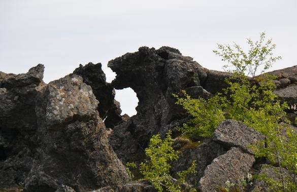 Løvehoved, Dimmiborgur, Myvatn