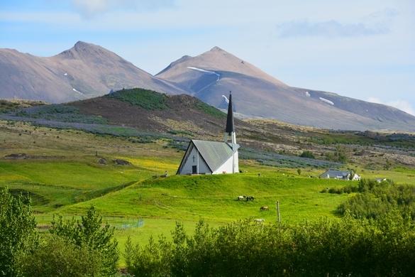 Mosfellheidi uden for Reykjavik