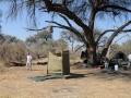 badeværelset, moremi-khwai lejren