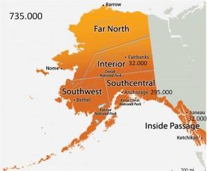 Alaskas provinser med indbyggertal