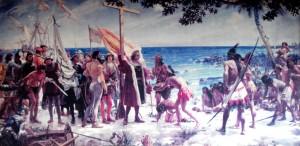 columbus møder indianere i 1492, museet La Gomera