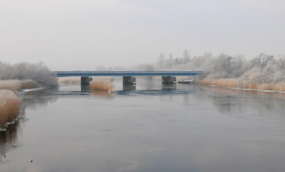 Jernbanebroen over Gudenåen, Randers