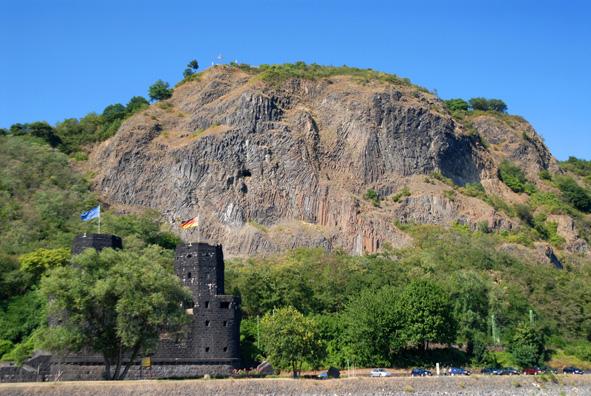 Basaltsøjler ved Linz, Rhinen