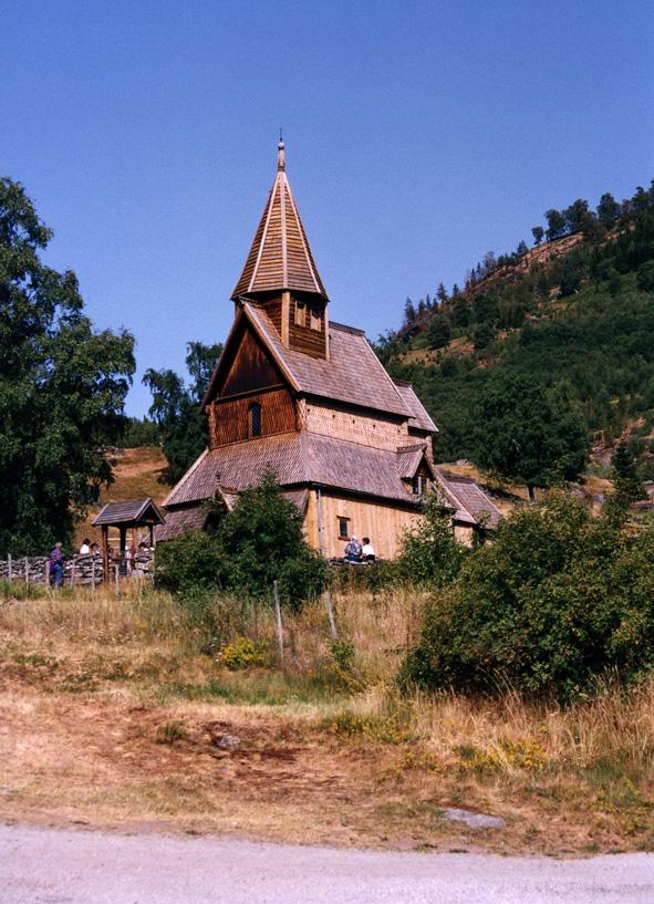 Stavkirke i Urnes ved Sognefjord 1992