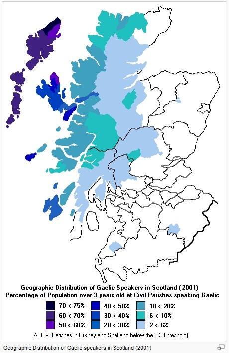 Gælisktalende områder i Skotland