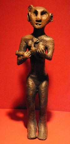 Ammende kvinde,  Horoztepe godt 4000 år gammel, museet for anatolske civilisationer, Ankara
