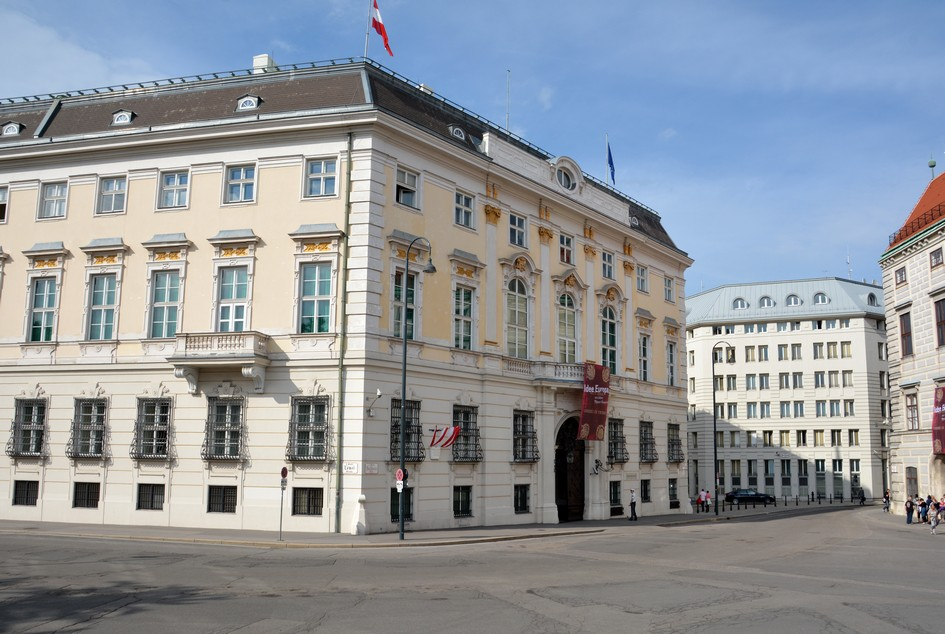 Bundeskanzleramt, Wien. Her blev Europas politiske geografi fastlagt i 1814 (Wienerkongressen)