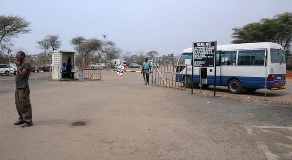 Grænsen til Zimbabwe