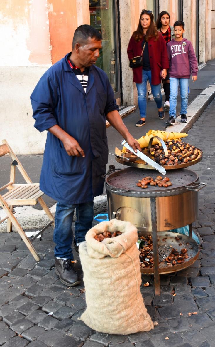 Kastaniesælger ved Piazza Navona