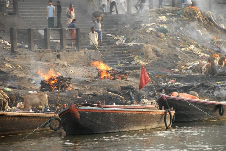 Ligbrænding ved Ganges, Varanasi