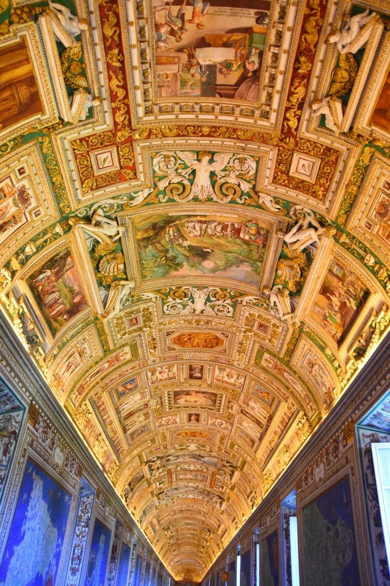 Loftet i de geografiske sale, Vatikan-museet
