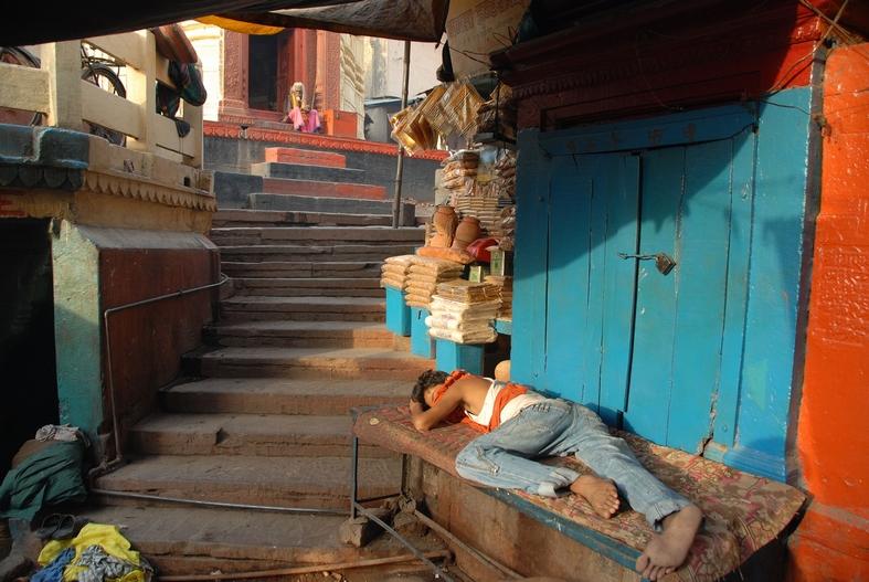 Morgen i Varanasi