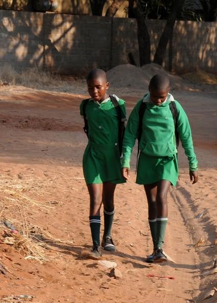Skolebørn, Victoria Falls