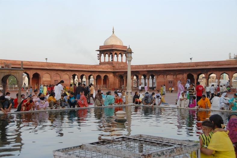 Den store moské , Old Delhi