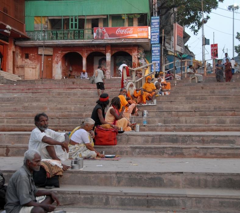Tiggertrappen ved Dashaswamedh ghat, Varanasi
