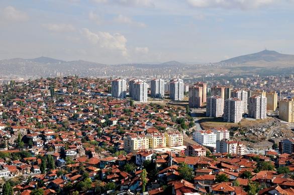 Udsigt over Ankara fra citadellet