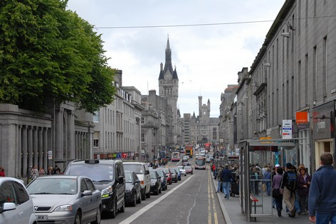 Union Street i Aberdeen. Aberdeen kaldes verdens granitby