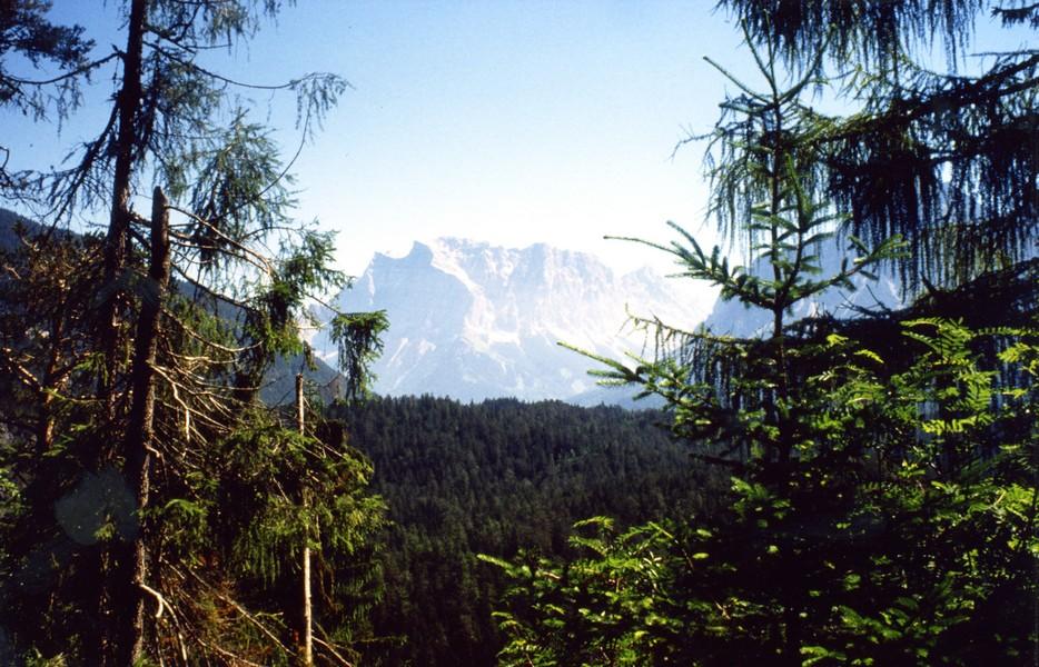 Zugspitze set fra den østrigske side