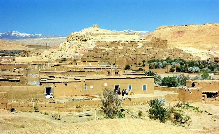 Berberlandsby i Atlasbjergene