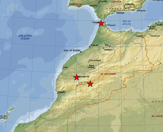 kort marokko