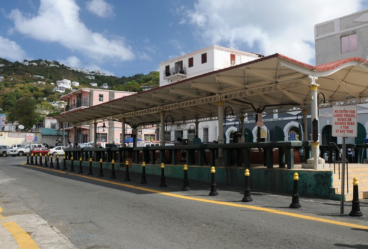 Markedspladsen hvor slavehandlen i siden tid foregik, Charlotte Amalie