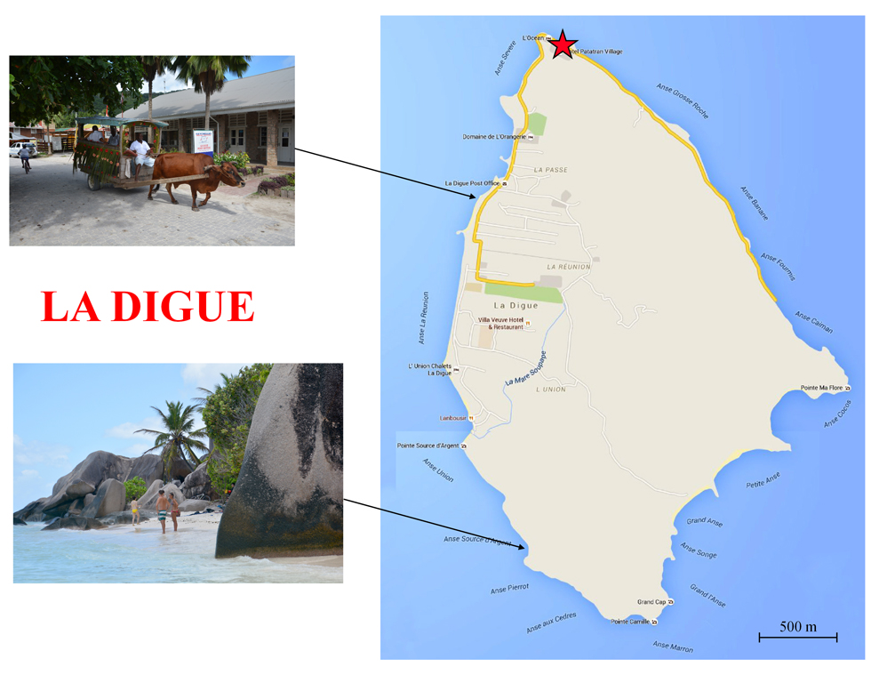 La Digue-kort