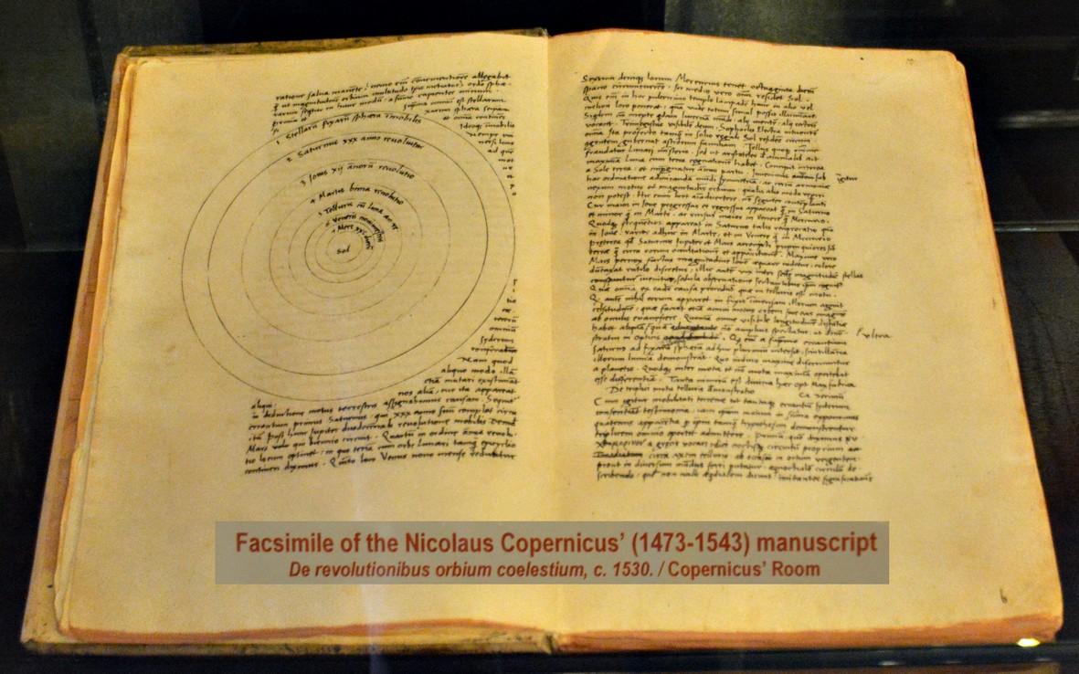 KOPERNIKUS'  De revolutionibus orbium coelestium FRA 1543, COLLEGIUM MAIUS