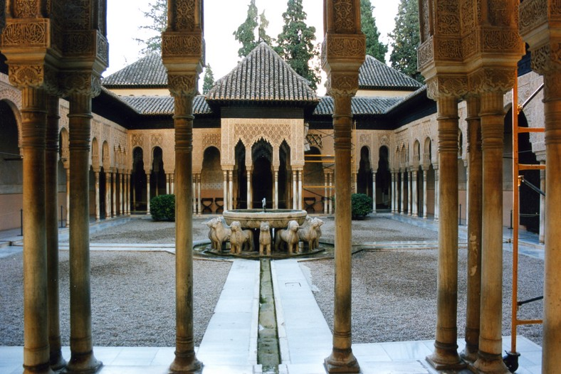 Løvegården, Alhambra, Granada, Andalusien